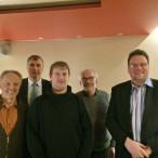 (v.l.n.r.): Martin Feile (Stellv.), Kurt Reinelt (AfA-Nürnberg), Patrick Kühnlein (Vorsitzender), Reinhard Klix (Beisitzer), Michael Arnold (Stellv.)