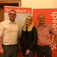 Die Wunschkandidaten des Vorsitzenden Peter Reiß (links): Magdalena Reiß (mitte) und Dr. Gerhard Brunner (rechts)